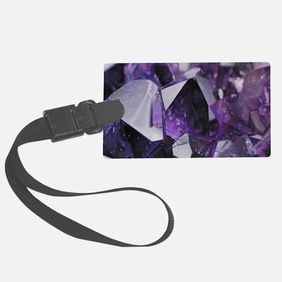 bohemian chic purple amethyst Luggage Tag