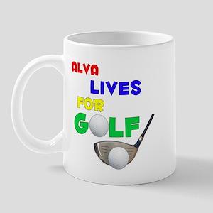 Alva Lives for Golf - Mug