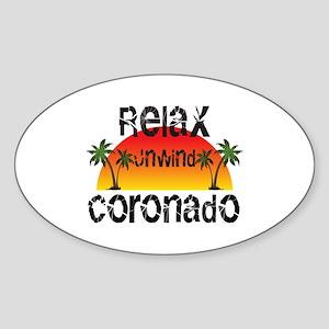 Relax, Unwind, Coronado Sticker