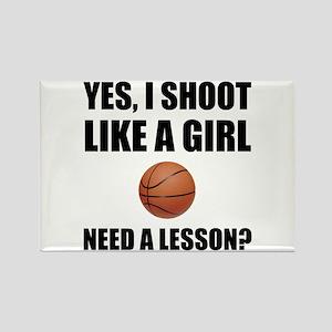 Like A Girl Basketball Magnets