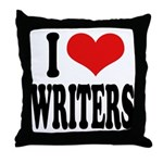 I Love Writers Throw Pillow