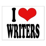 I Love Writers Small Poster