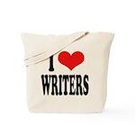 I Love Writers Tote Bag