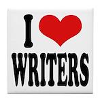 I Love Writers Tile Coaster