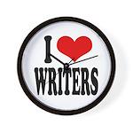 I Love Writers Wall Clock