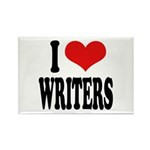I Love Writers Rectangle Magnet (10 pack)