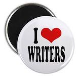 I Love Writers Magnet