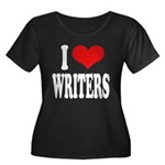 I Love Writers Women's Plus Size Scoop Neck Dark T