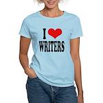 I Love Writers Women's Light T-Shirt