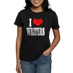 I Love Writers Women's Dark T-Shirt