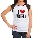 I Love Writers Women's Cap Sleeve T-Shirt