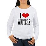 I Love Writers Women's Long Sleeve T-Shirt