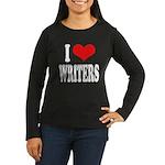 I Love Writers Women's Long Sleeve Dark T-Shirt