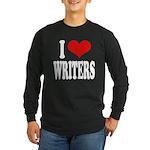 I Love Writers Long Sleeve Dark T-Shirt