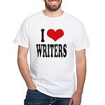 I Love Writers White T-Shirt
