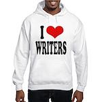 I Love Writers Hooded Sweatshirt