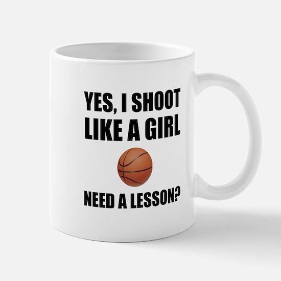 Like A Girl Basketball Mugs