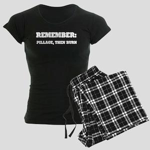 Remember, Pillage then Burn Women's Dark Pajamas
