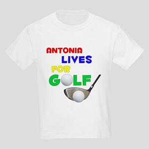 Antonia Lives for Golf - Kids Light T-Shirt