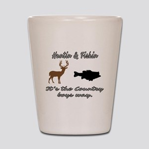 Hunting and Fishing Shot Glass