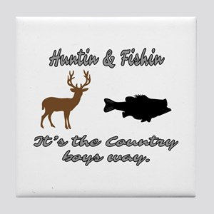 Hunting and Fishing Tile Coaster
