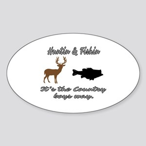 Hunting and Fishing Sticker