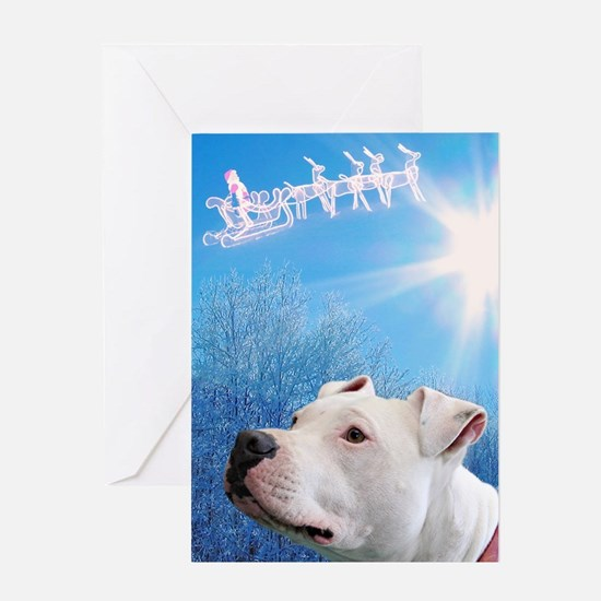 Unique Pit bull christmas Greeting Card