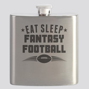 Eat Sleep Fantasy Football Flask