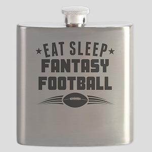 Eat Sleep Fantasy Football Flask