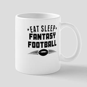 Eat Sleep Fantasy Football Mugs