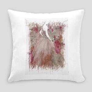 Woman fashion sketch Everyday Pillow