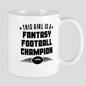 This Girl Is A Fantasy Football Champion Mugs