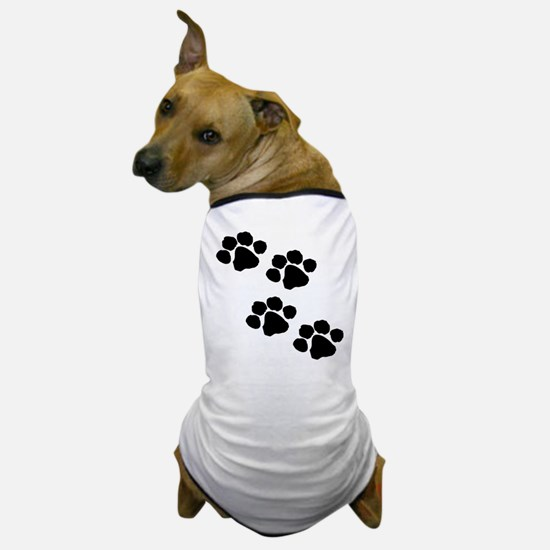 Pet Paw Prints Dog T-Shirt