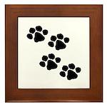 Pet Paw Prints Framed Tile