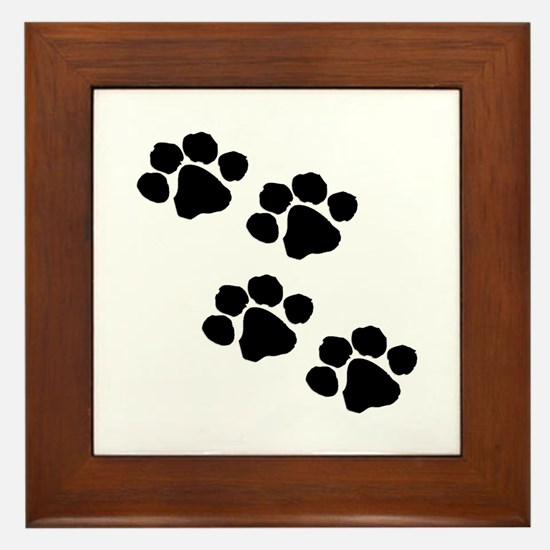 Pet Paw Prints Framed Tile