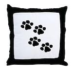 Pet Paw Prints Throw Pillow