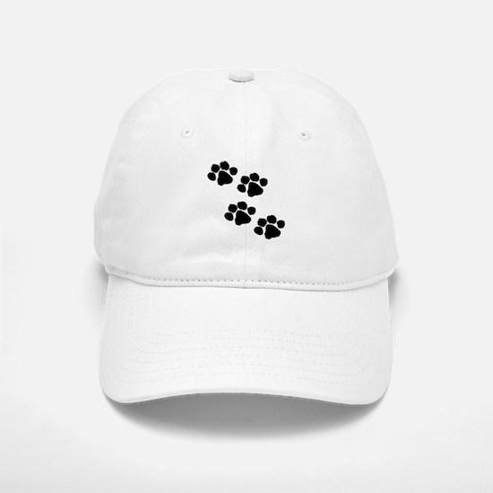 Pet Paw Prints Baseball Baseball Cap