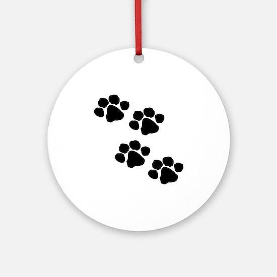 Pet Paw Prints Ornament (Round)