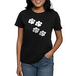 Pet Paw Prints Women's Dark T-Shirt