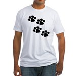 Pet Paw Prints Fitted T-Shirt
