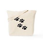 Pet Paw Prints Tote Bag