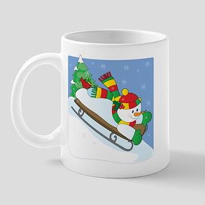 Snowman Sled Mug