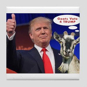 GOATS vote 4 TRUMP Witty Politics Ge Tile Coaster