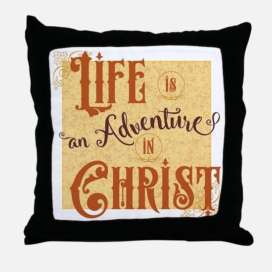 Adventure in Christ Throw Pillow