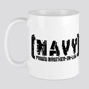 Proud NAVY BroNlaw - Tattered Style Mug