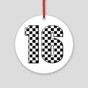 auto racing #16 Ornament (Round)