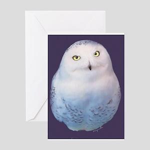 Snowy owl Greeting Cards