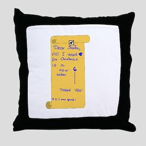 Saber Wishlist Throw Pillow