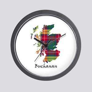 Map - Buchanan Wall Clock