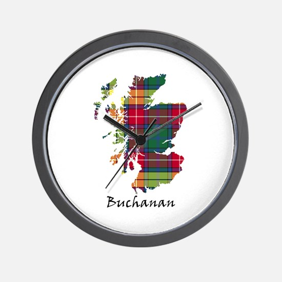 Map - Buchanan Wall Clock